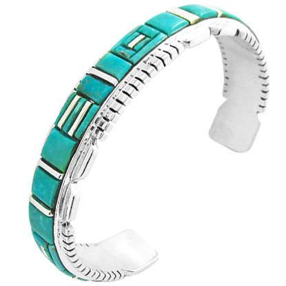 Arts and Crafts Inlaid Bracelet